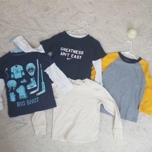 4 longsleeved shirts